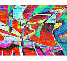 Neon Graffiti  Photographic Print