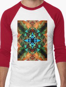 Abstract Inkblot Pattern Men's Baseball ¾ T-Shirt