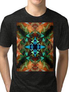 Abstract Inkblot Pattern Tri-blend T-Shirt