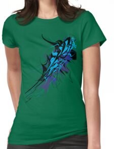 Abstract Design - Blue/Black Womens Fitted T-Shirt