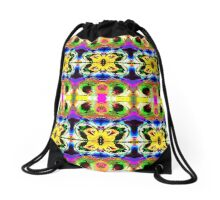 Collage of Colors Drawstring Bag