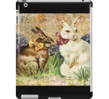 Victorian Easter Bunnies Rabbits In Grass iPad Case/Skin