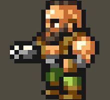 Barret Wallace sprite - FFRK - Final Fantasy VII (FF7) by Deezer509