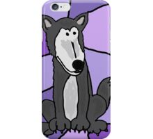 Awesome Goofy Grey Wolf Art Abstract iPhone Case/Skin