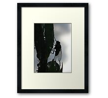 I see a silhouette of a fly Framed Print