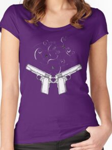 double gun negative Women's Fitted Scoop T-Shirt