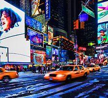 Times Square III aka Scream, New York City, USA by Sabine Jacobs