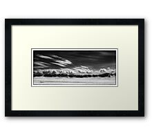 Cloud Race Framed Print