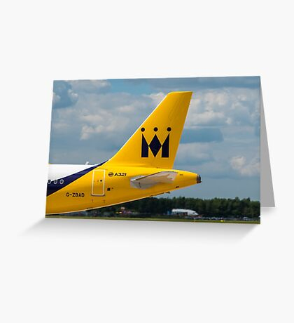Monarch Airlines Airbus A321 tail livery Greeting Card