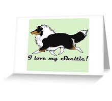 Love your tri-color Sheltie! Greeting Card