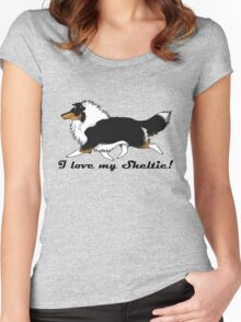 Love your tri-color Sheltie! Women's Fitted Scoop T-Shirt