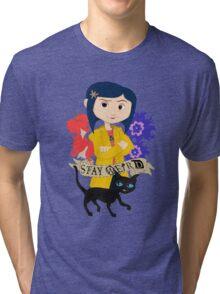 Stay Weird with Coraline Tri-blend T-Shirt