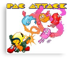 Pac Attack 2.0 Canvas Print