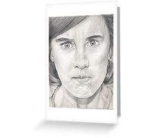 I'm NOT angry!!! Greeting Card