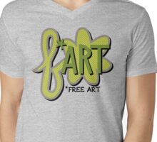 Free + Art = F*ART! Mens V-Neck T-Shirt