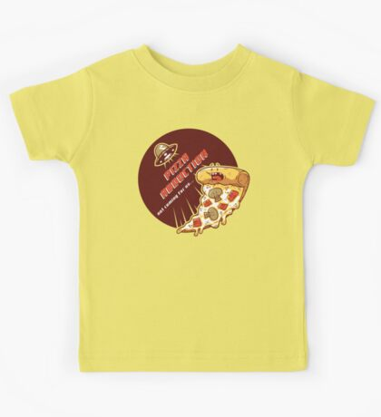Pizza Abduction Kids Tee