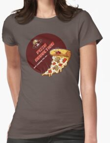 Pizza Abduction Womens Fitted T-Shirt
