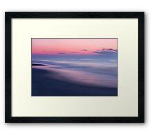 Beach Sunrise Abstract Framed Print