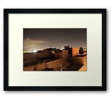 San Juan, Puerto Rico at Night Framed Print