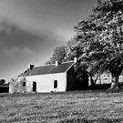 Black & white of the old house.  by Fred Taylor