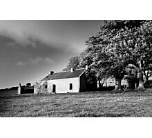 Black & white of the old house.  Photographic Print