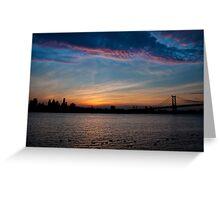 Philadelphia Skyline Silhouette Greeting Card