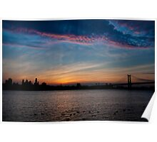 Philadelphia Skyline Silhouette Poster