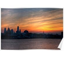 Philadelphia Skyline at Sunset Poster