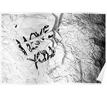 Crumpled Sentiment Poster