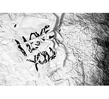 Crumpled Sentiment Photographic Print