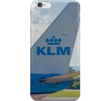 KLM Royal Dutch Airlines Boeing 737 tail livery  iPhone Case/Skin