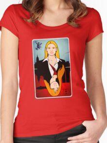 Olivia VS Fauxlivia | Fringe Women's Fitted Scoop T-Shirt