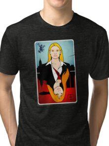 Olivia VS Fauxlivia | Fringe Tri-blend T-Shirt
