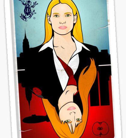 Olivia VS Fauxlivia | Fringe Sticker