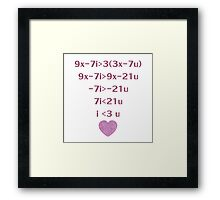 Equation Of My Heart Framed Print