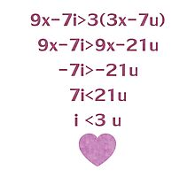 Equation Of My Heart Photographic Print