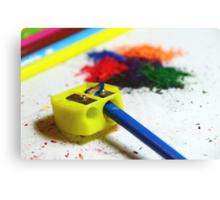 building a rainbow Canvas Print