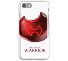 Soul of the Warrior -white iPhone Case/Skin