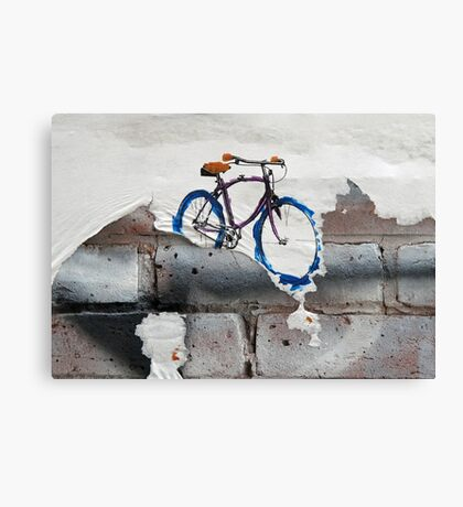 Paper Bicycle Canvas Print
