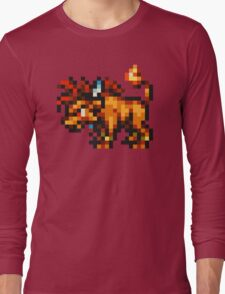 Nanaki / Red XIII sprite - FFRK - Final Fantasy VII (FF7) Long Sleeve T-Shirt