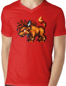 Nanaki / Red XIII sprite - FFRK - Final Fantasy VII (FF7) Mens V-Neck T-Shirt