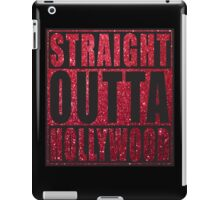 Straight Outta Hollywood red glitter iPad Case/Skin