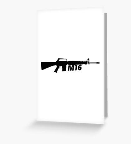 M16 Assault Rifle Greeting Card