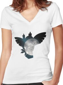 Noctowl used dream eater Women's Fitted V-Neck T-Shirt
