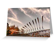 Pedestrian Bridge - Parramatta, Australia Greeting Card