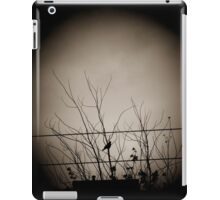 Bird, tree branches, and wires iPad Case/Skin