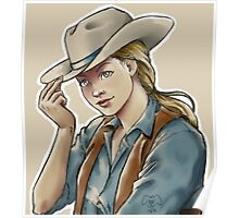 blonde cowgirl Poster