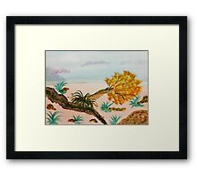 The day the Earth opened up! Watercolor Framed Print