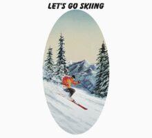 Let's Go Skiing - Banner Kids Tee