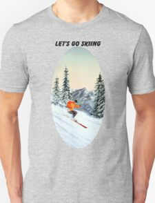 Let's Go Skiing - Banner T-Shirt